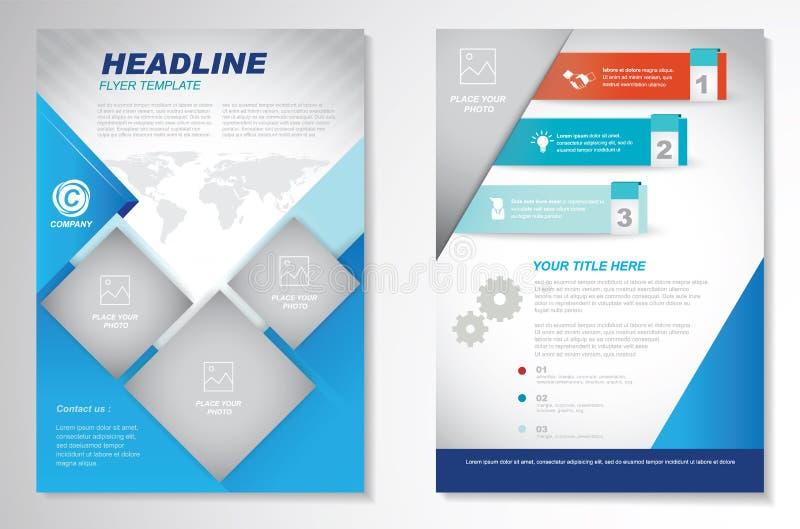 Mall för orientering för design för vektorbroschyrreklamblad Infographic stock illustrationer
