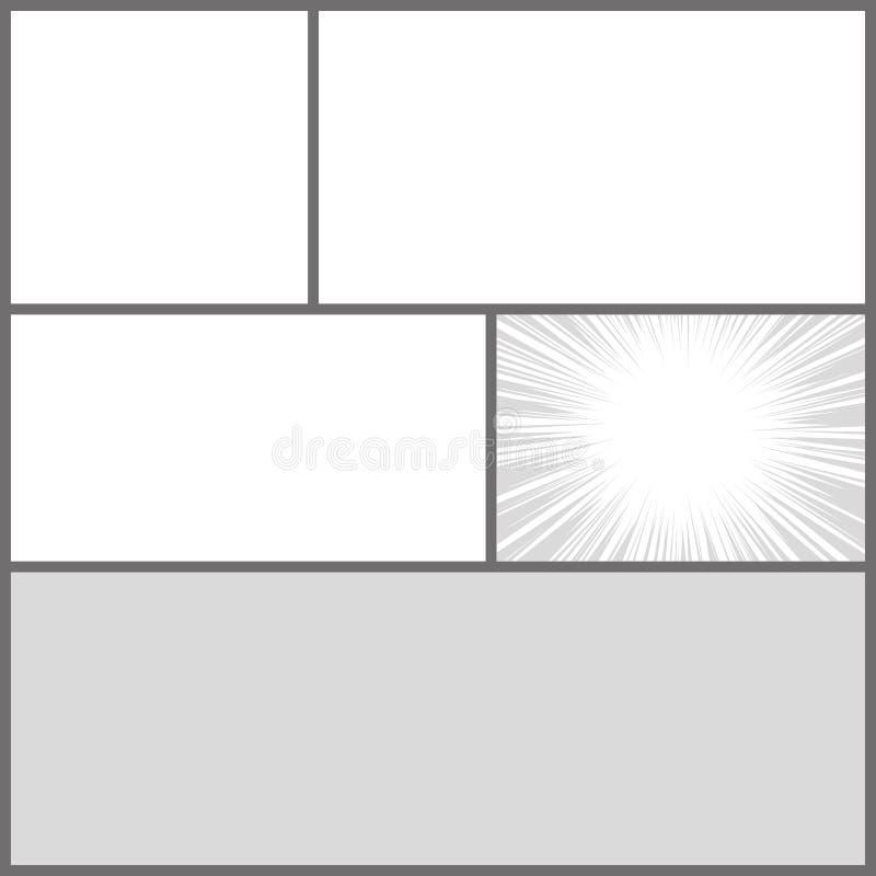 Mall för orientering för mellanrum för stil för komikerpopkonst med vektor illustrationer