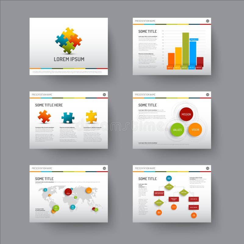 Mall för presentationsglidbanor vektor illustrationer