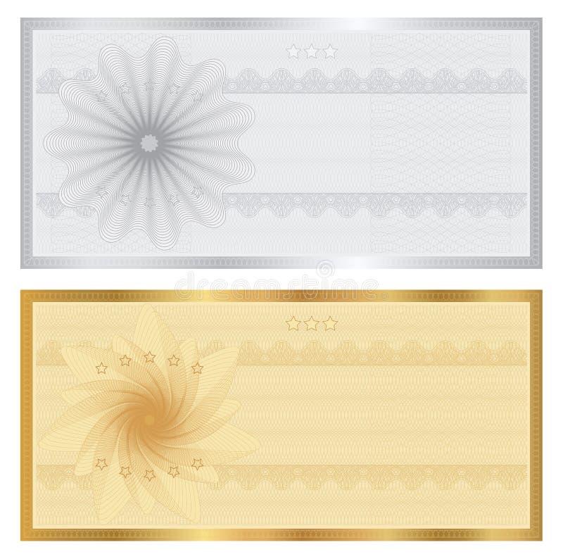 Mall för presentkort (kupong, kupong) stock illustrationer