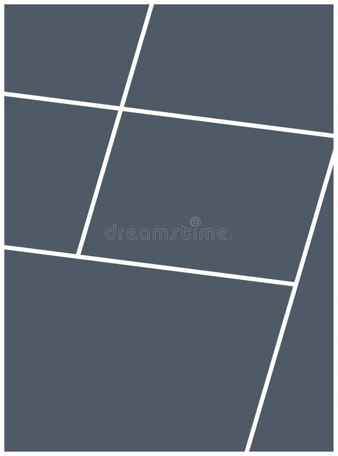 Mall för ram för montagecollagefoto Design för affisch för montage för bildbildbakgrund royaltyfri illustrationer