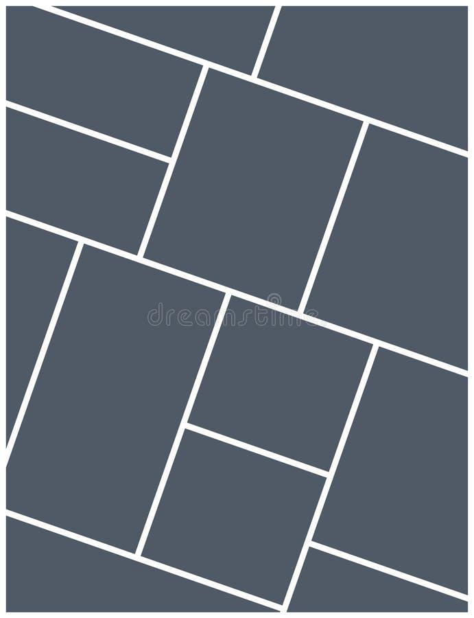 Mall för ram för montagecollagefoto Design för affisch för montage för bildbildbakgrund stock illustrationer