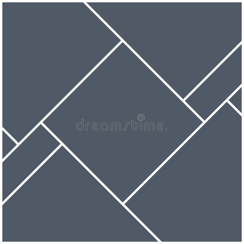 Mall för ram för montagecollagefoto Design för affisch för montage för bildbildbakgrund vektor illustrationer
