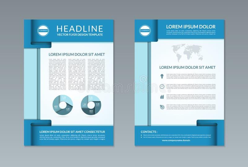 Mall för reklambladbroschyrdesign Format A4 royaltyfri illustrationer
