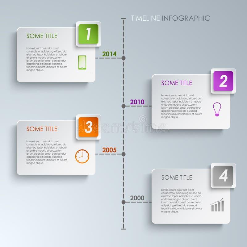 Mall för rektangel för information om Timeline grafisk vektor illustrationer