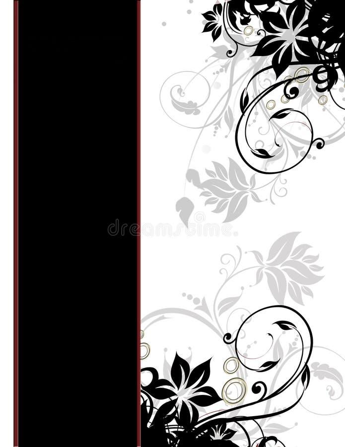 mall för sida för kanträkning elegant blom- vektor illustrationer