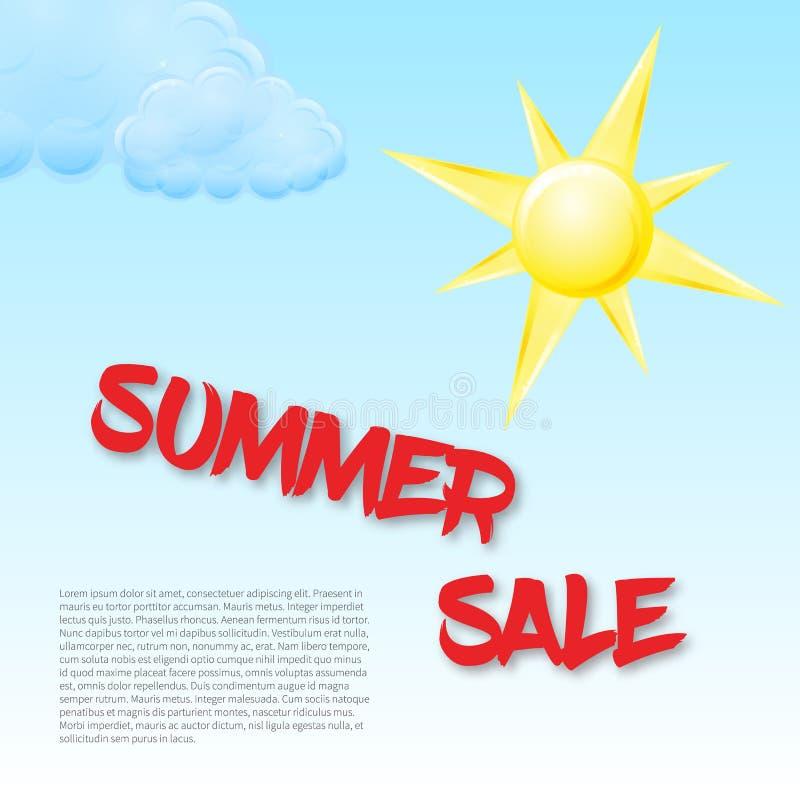Mall för sommarförsäljningsbegrepp vektor illustrationer
