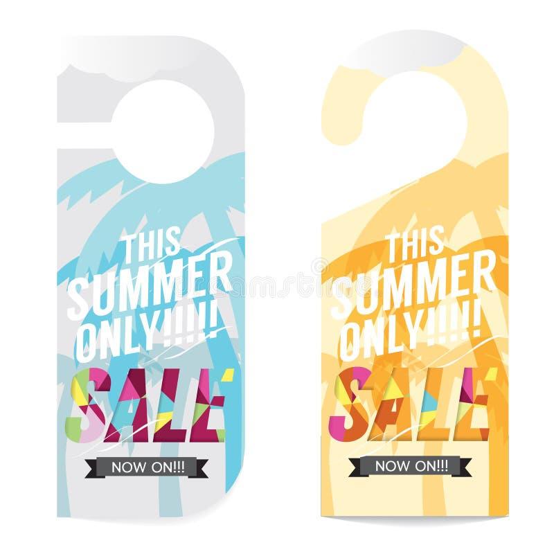 Mall för sommarSale etikett stock illustrationer