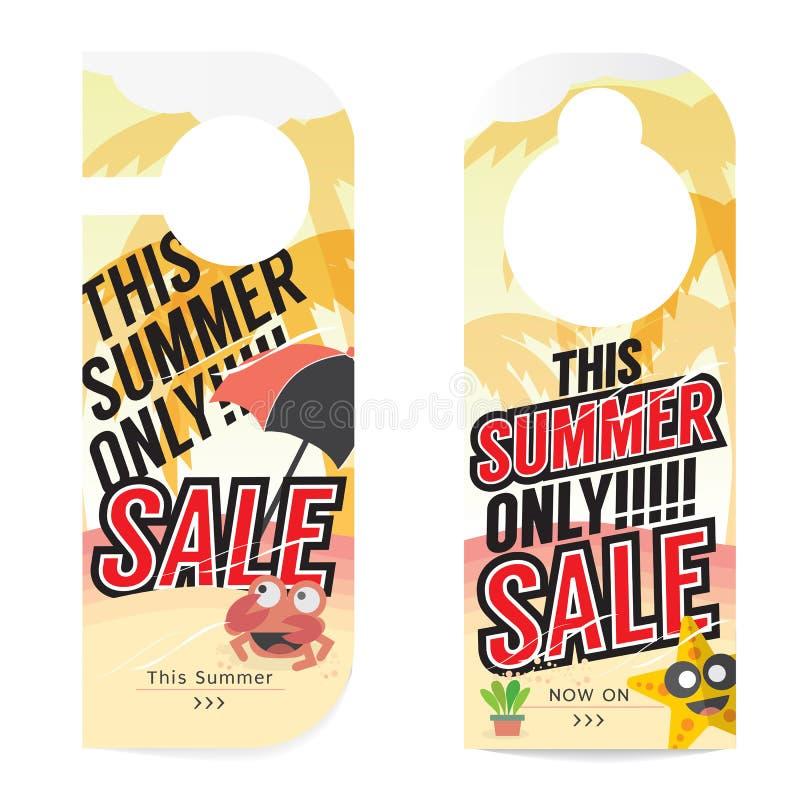 Mall för sommarSale etikett royaltyfri illustrationer