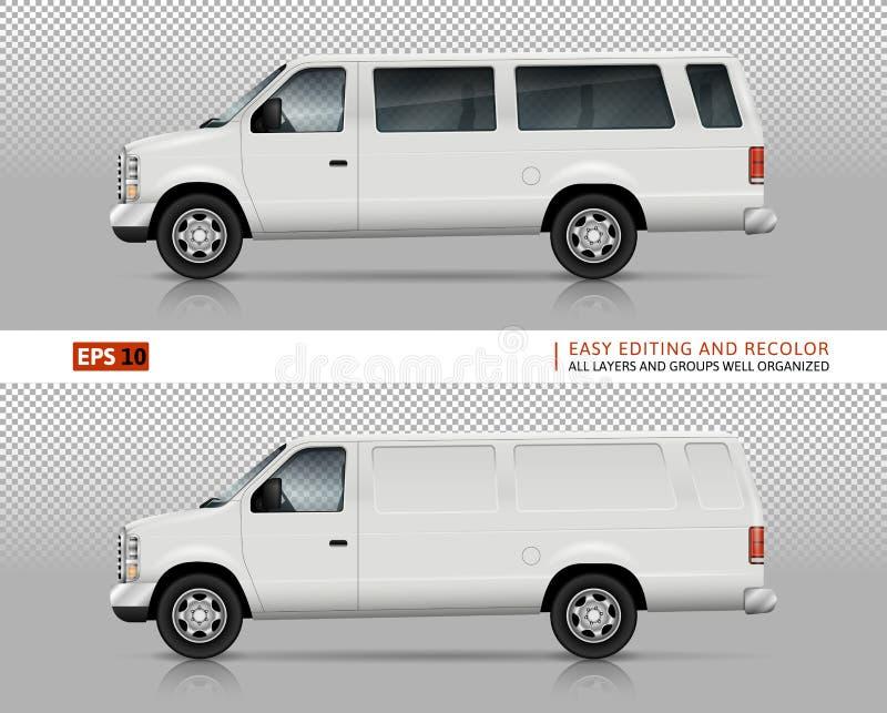 Mall för SUV bilvektor royaltyfri illustrationer