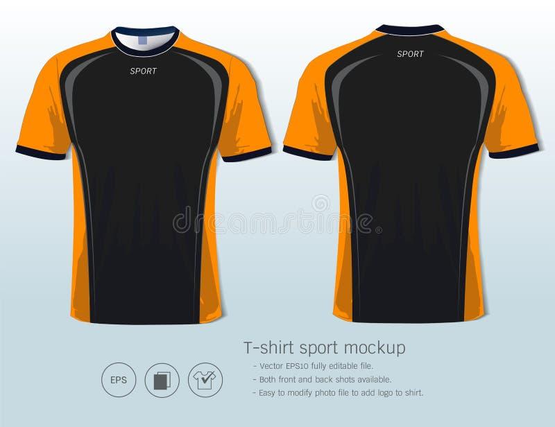 Mall för T-tröjasportdesign för fotbollklubba eller all sportswear royaltyfri illustrationer
