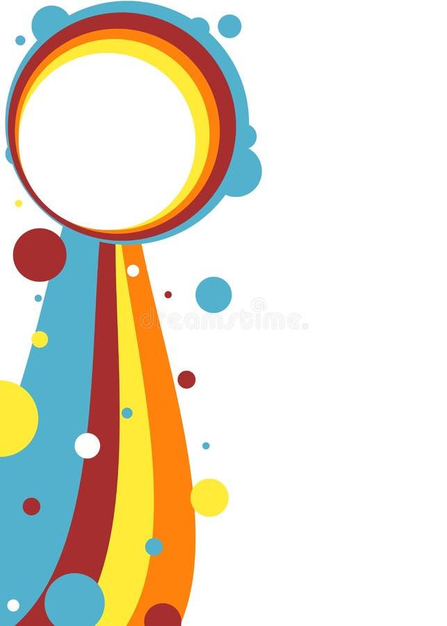 Mall för tappningstilaffisch med kopieringsutrymme vektor illustrationer