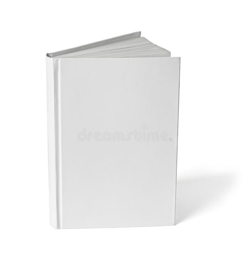 Mall för tomt papper för bokanteckningsboklärobok vit royaltyfri fotografi