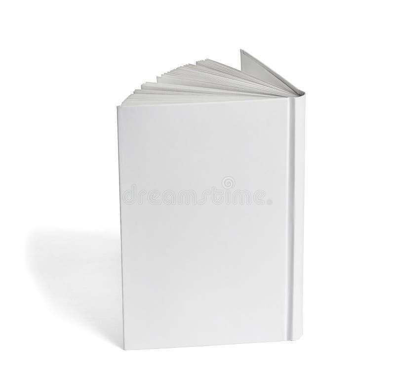 Mall för tomt papper för bokanteckningsboklärobok vit royaltyfri foto
