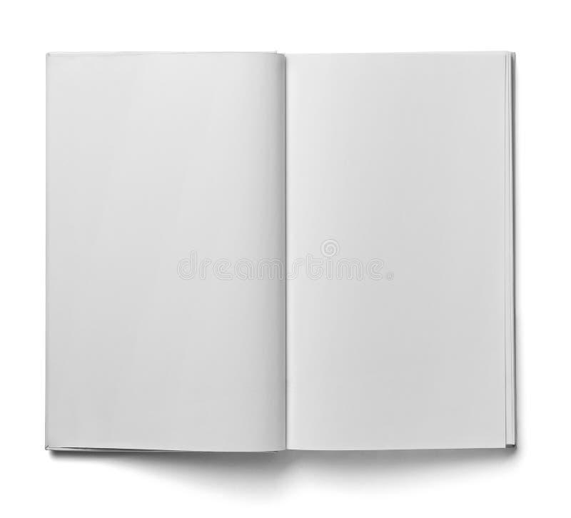 Mall för tomt papper för bokanteckningsboklärobok vit royaltyfria foton