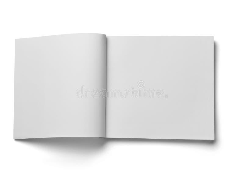 Mall för tomt papper för bokanteckningsboklärobok vit arkivbild