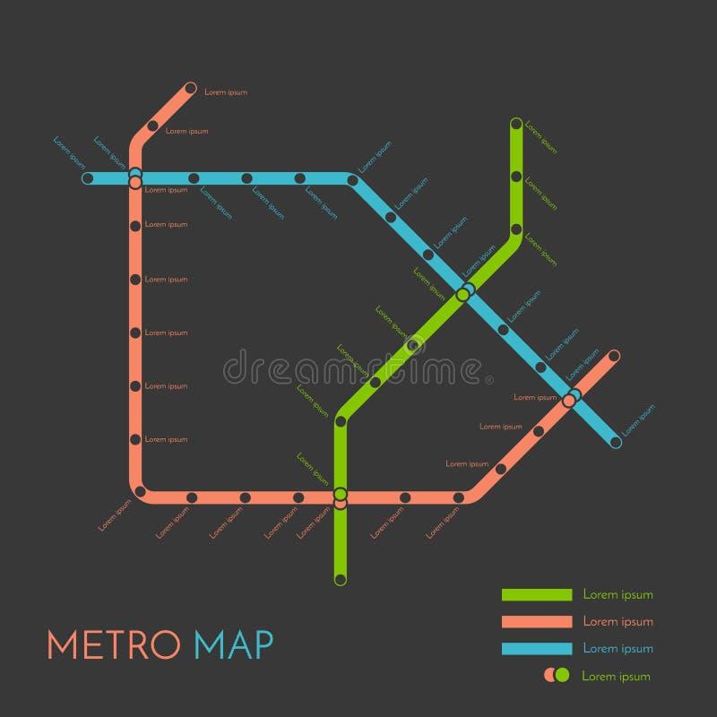 Mall för tunnelbana- eller gångtunnelöversiktsdesign begrepp för stadstrans.intrig stock illustrationer