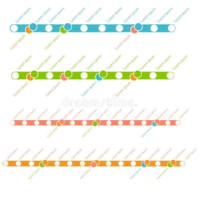 Mall för tunnelbana- eller gångtunnelöversiktsdesign begrepp för stadstrans.intrig vektor illustrationer