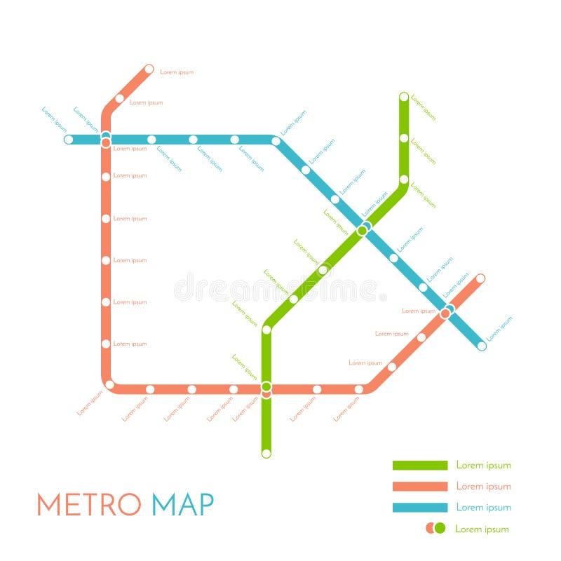 Mall för tunnelbana- eller gångtunnelöversiktsdesign begrepp för stadstrans.intrig också vektor för coreldrawillustration royaltyfri illustrationer