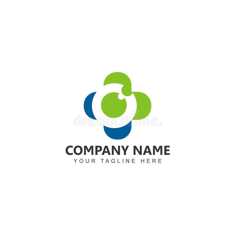 Mall för vård- logo för öga modern stock illustrationer