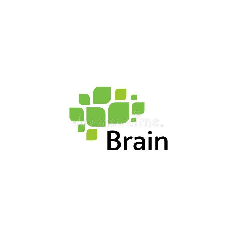 Mall för vektor för Brain Logo konturdesign Funderareidébegrepp Symbol för logotyp för makt för hjärnstorm tänkande isolerat arkivbilder