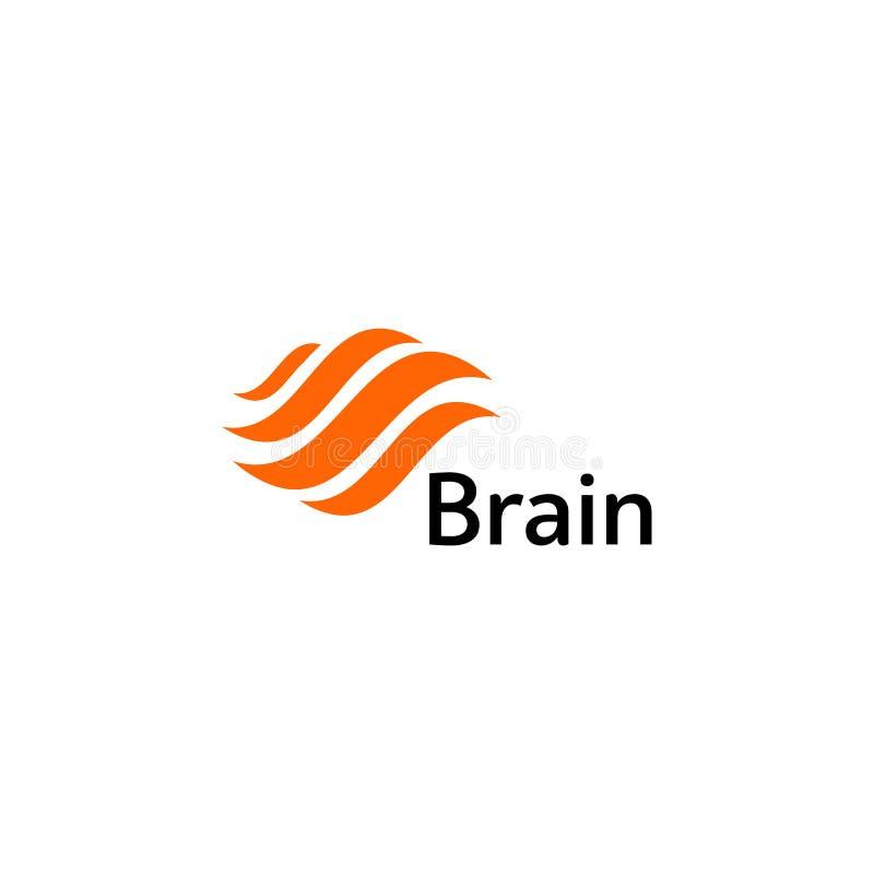 Mall för vektor för Brain Logo konturdesign Funderareidébegrepp Symbol för logotyp för makt för hjärnstorm tänkande isolerat royaltyfri illustrationer