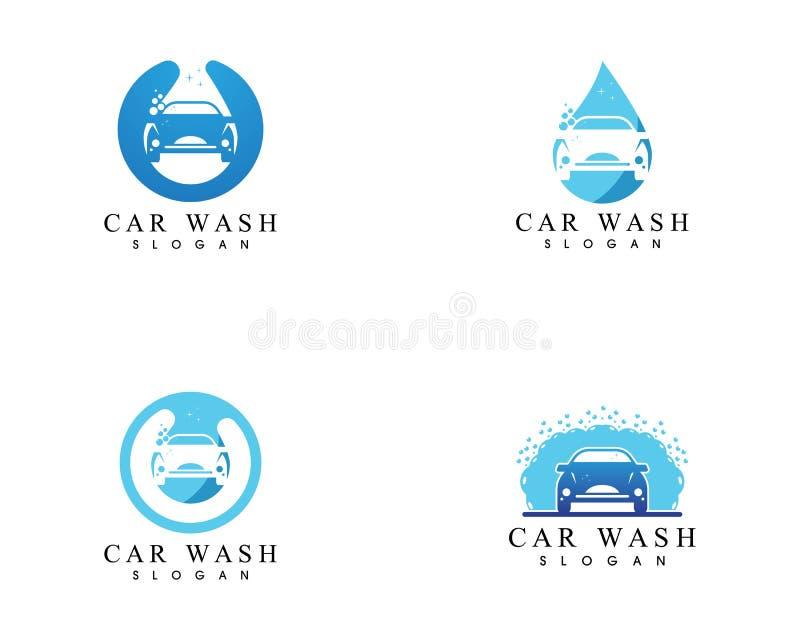Mall för vektor för design för biltvättsymbolslogo stock illustrationer