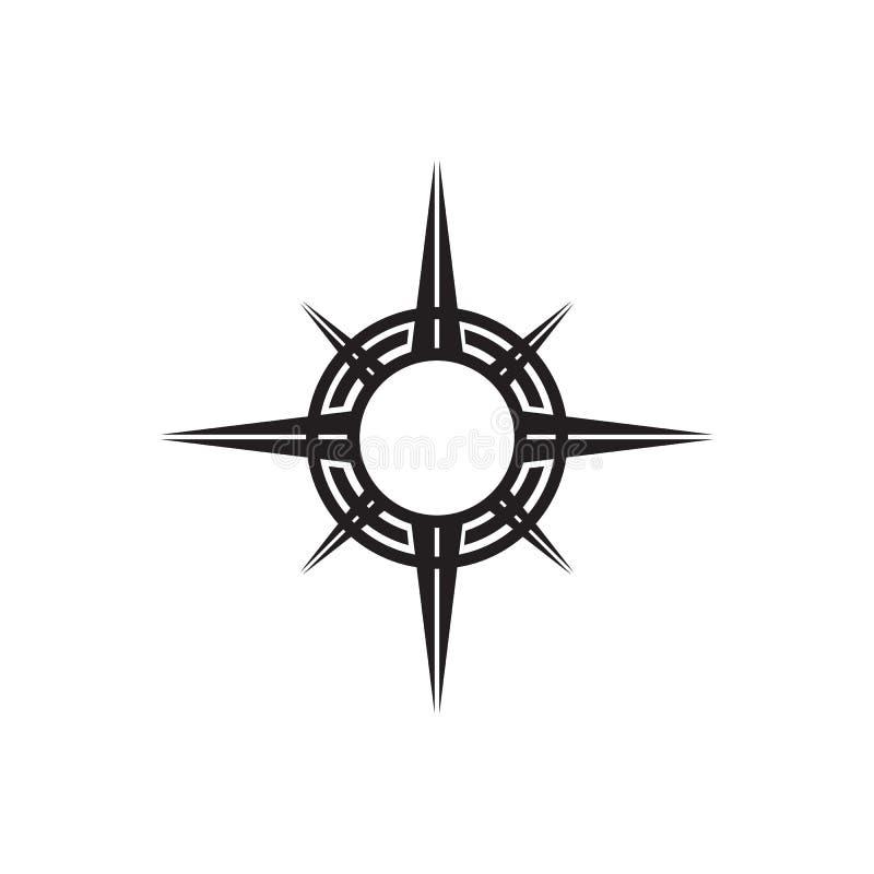 Mall för vektor för design för kompasssymbolslogo stock illustrationer