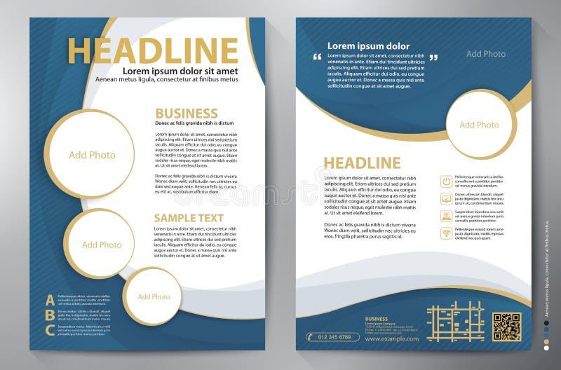 Mall för vektor för broschyrdesign a4 fotografering för bildbyråer