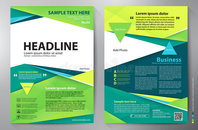 Mall för vektor för broschyrdesign a4 arkivfoto