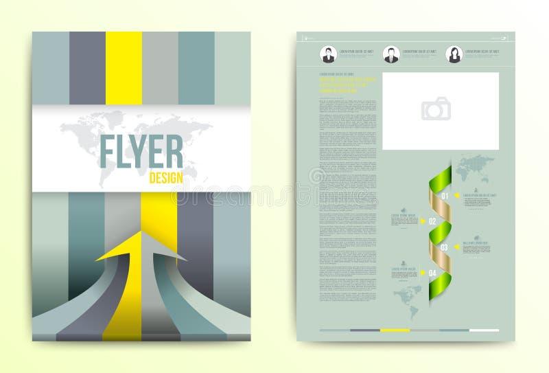 Mall för vektor för design för reklambladbroschyrräkning royaltyfri illustrationer