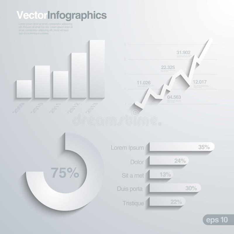 Mall för vektor för Infographics designbeståndsdelar. royaltyfri illustrationer