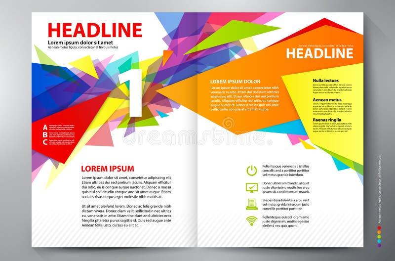 Mall för vektor för sidor a4 för broschyrdesign två arkivbild