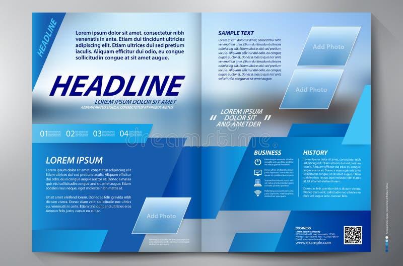 Mall för vektor för sidor a4 för broschyrdesign två arkivfoton