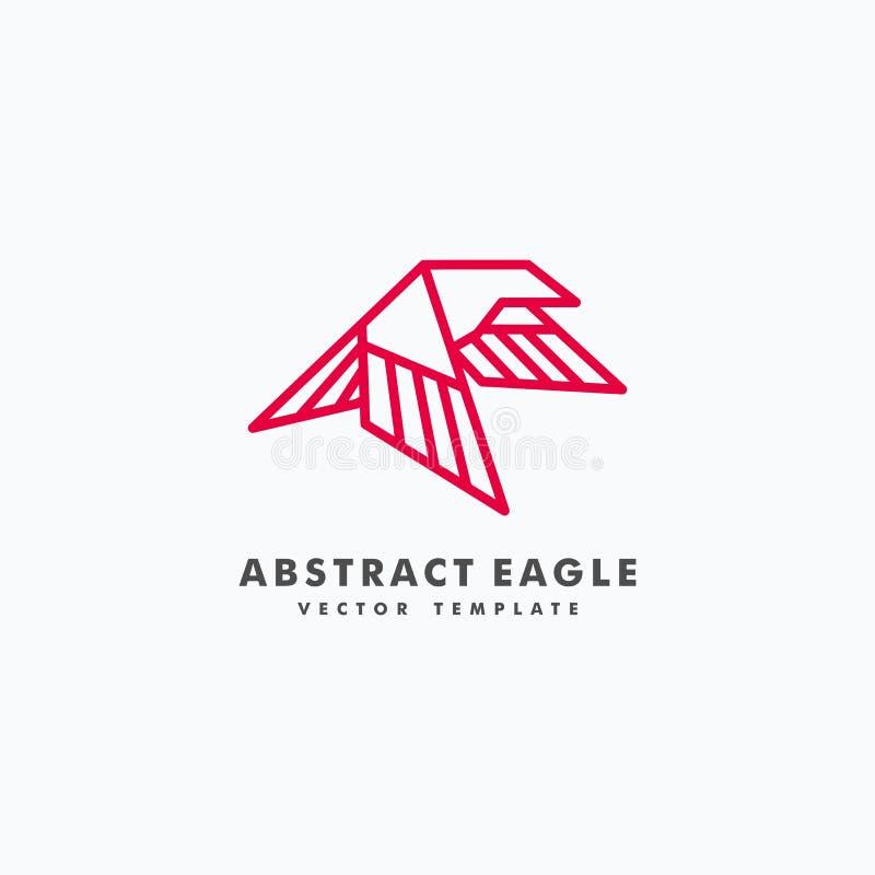 Mall för vektor för illustration för begrepp för Eagle Line konstfärg stock illustrationer