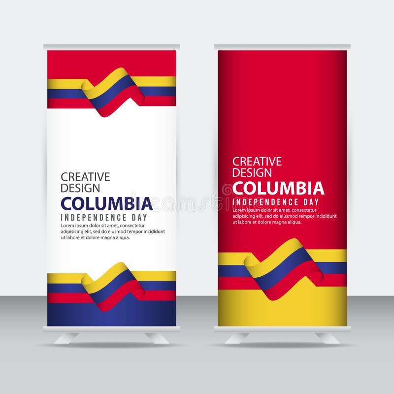 Mall för vektor för illustration för design Columbia för oberoende dagaffisch idérik royaltyfri illustrationer