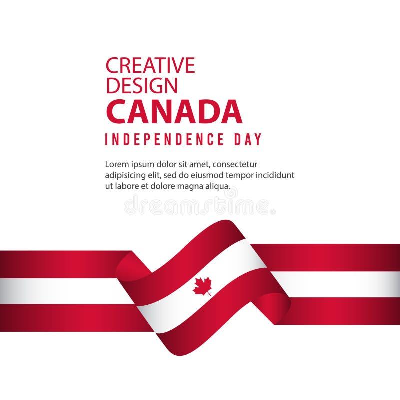 Mall för vektor för illustration för design Kanada för oberoende dagaffisch idérik royaltyfri illustrationer