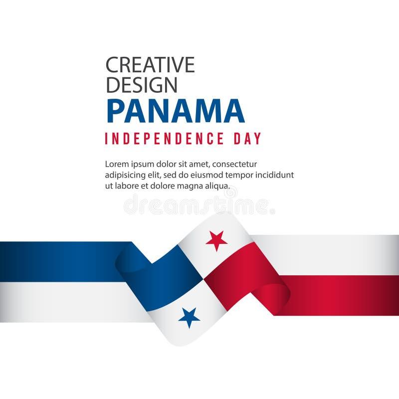 Mall för vektor för illustration för design Panama för oberoende dagaffisch idérik stock illustrationer