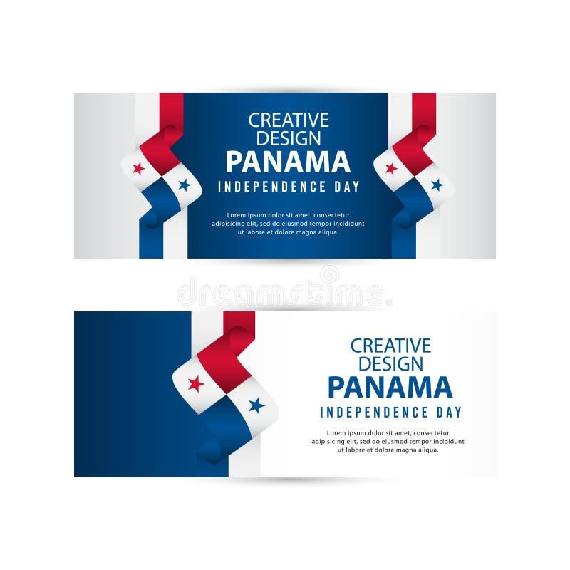 Mall för vektor för illustration för design Panama för oberoende dagaffisch idérik royaltyfri illustrationer