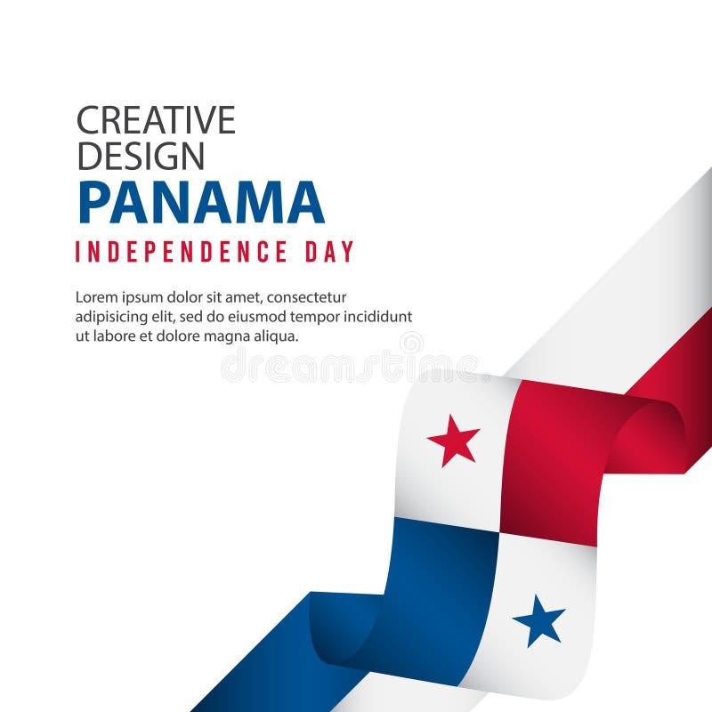 Mall för vektor för illustration för design Panama för oberoende dagaffisch idérik vektor illustrationer