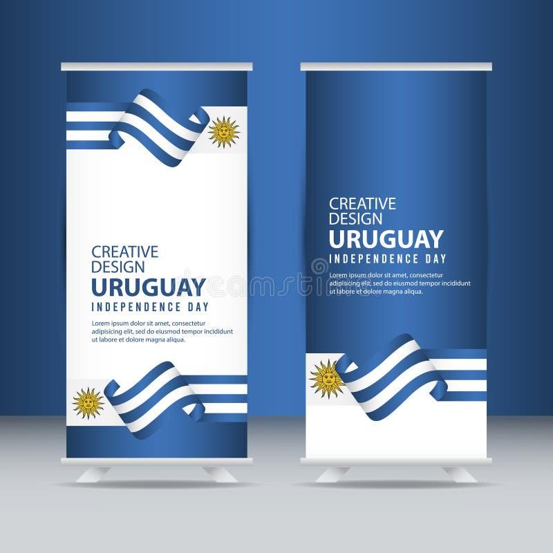 Mall för vektor för illustration för design för Uruguay självständighetsdagenberöm idérik vektor illustrationer