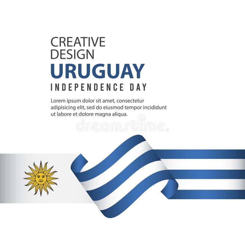 Mall för vektor för illustration för design för Uruguay självständighetsdagenberöm idérik stock illustrationer