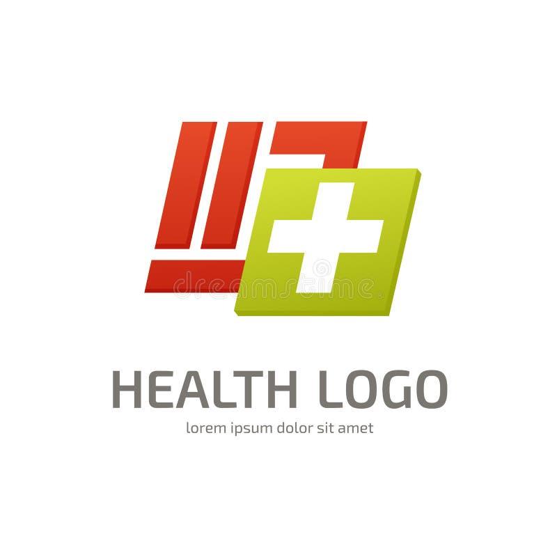 Mall för vektor för logodesignabstrakt begrepp medicinsk vektor illustrationer