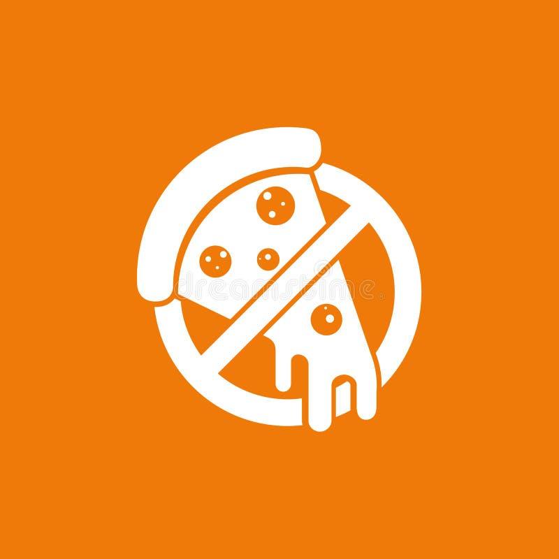 Mall för vektor för mat för logodesignabstrakt begrepp italiensk vektor illustrationer
