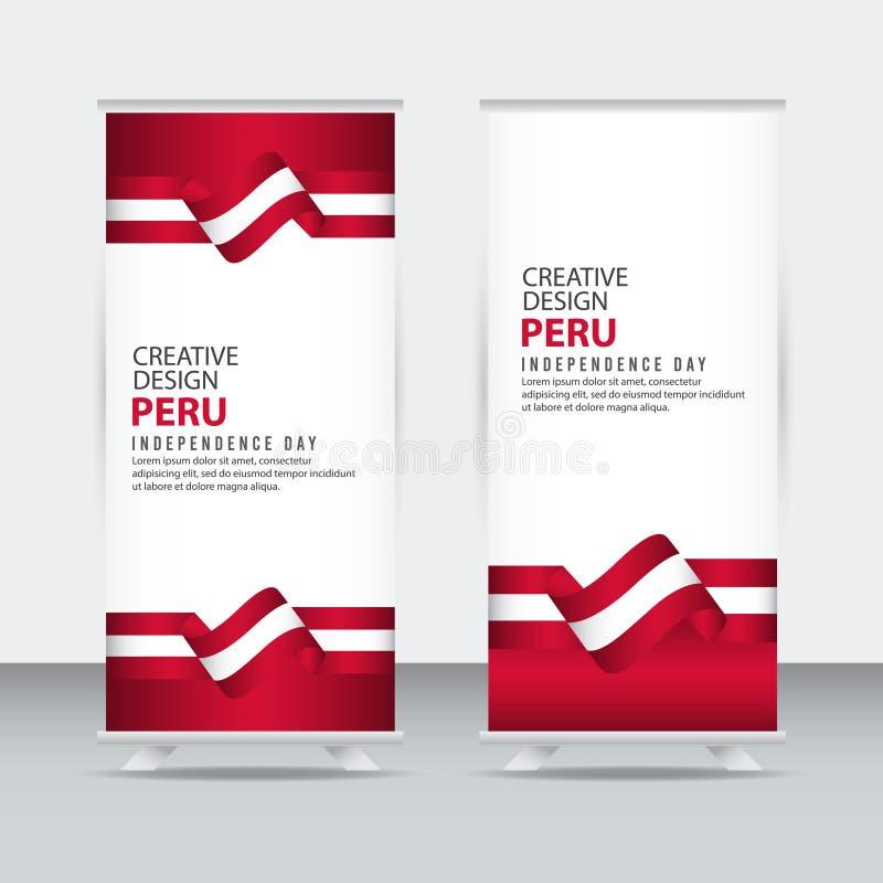 Mall för vektor för Peru Independent Day Poster Creative designillustration vektor illustrationer