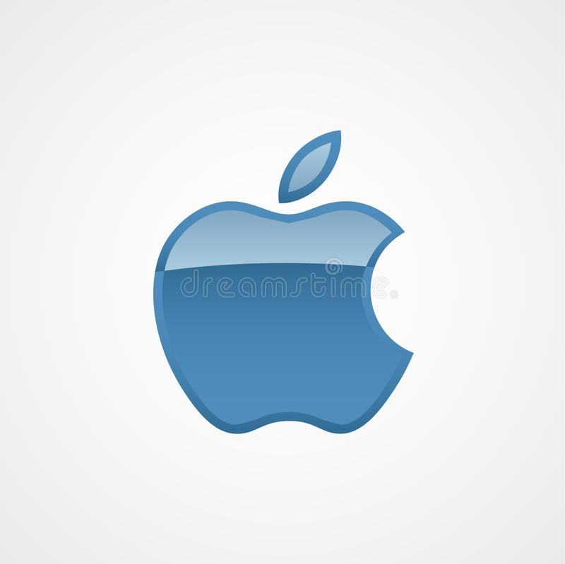 Mall för vektor för symbol för Apple logo modern stock illustrationer