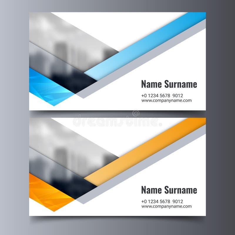 Mall för vektoraffärskort Idérik orientering för företags identitet stock illustrationer
