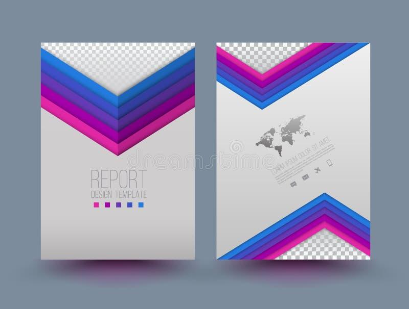 Mall för vektorbroschyrdesign vektor illustrationer