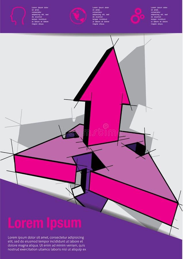 Mall för vektorbroschyrräkning stock illustrationer