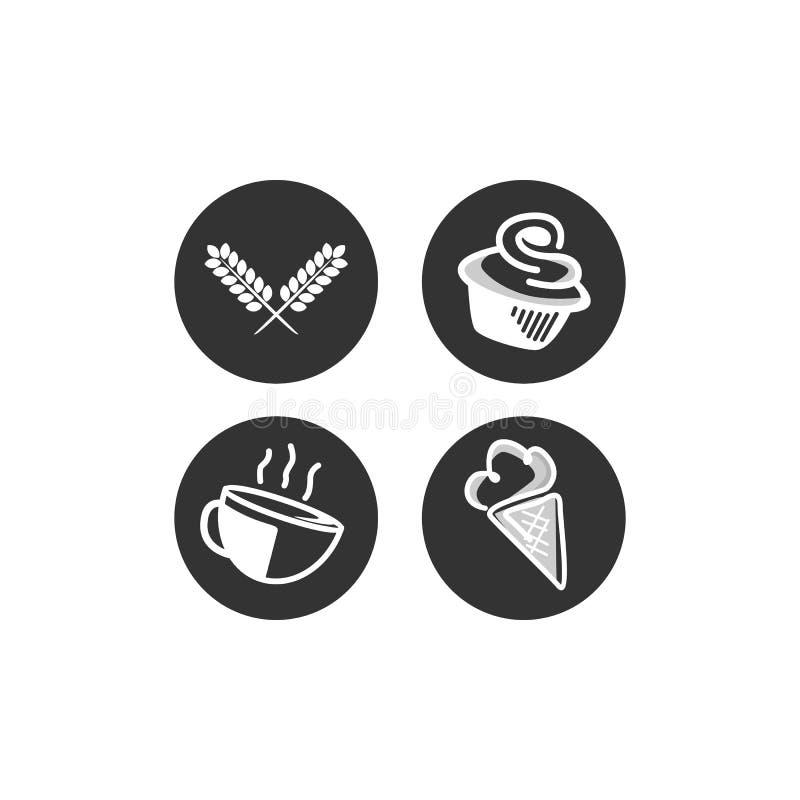 Mall för vektorlogodesign stock illustrationer